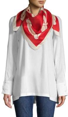 Moschino Heart Silk Scarf