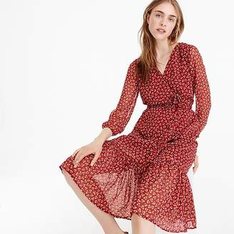 Point Sur faux-wrap dress in sparkle floral