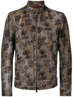 Etro floral print biker jacket