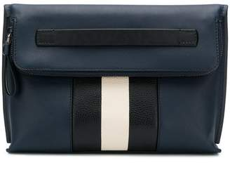 Bally striped clutch bag