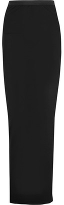 Rick Owens - Wrap-effect Jersey Maxi Skirt - Black $415 thestylecure.com
