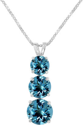 FINE JEWELRY Genuine Blue Topaz Sterling Silver Pendant