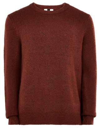 Topman Mens Cocoa Brown Jumper