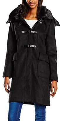 Mexx Women's Long Sleeve Coat Black Schwarz (Black 001)