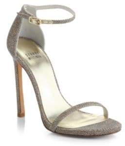 Stuart Weitzman Nudist Lame Sandals