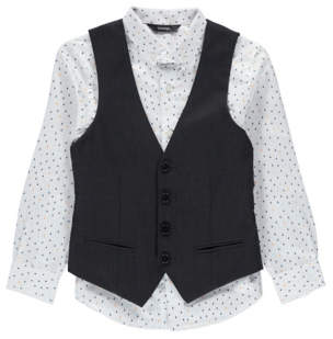 George Formal Printed Shirt and Waistcoat Set