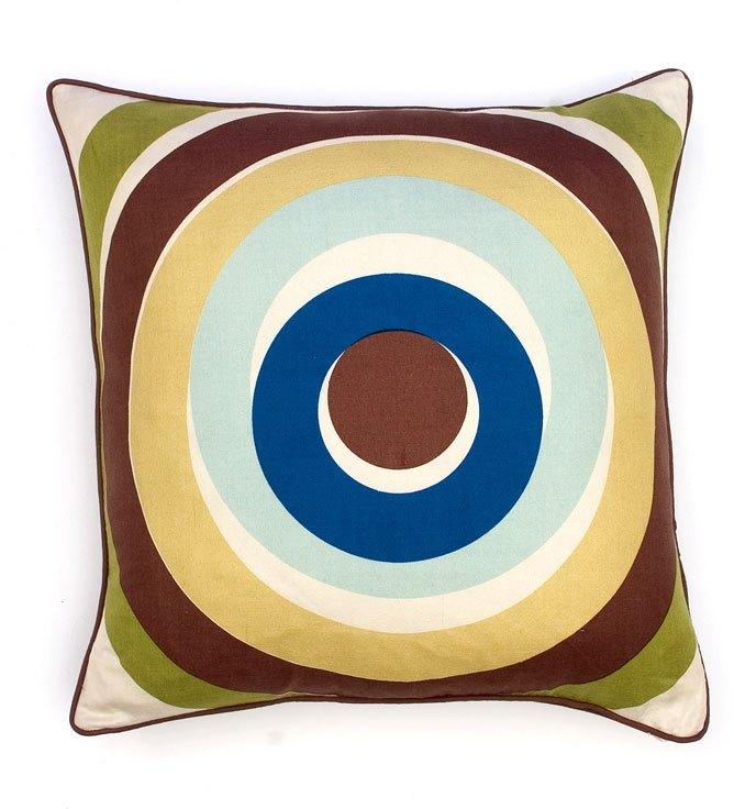 Thomas Paul Spiro Aqua Silk Twill Pillow