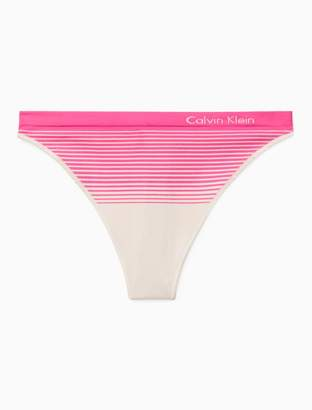 Calvin Klein seamless illusions stripe print thong