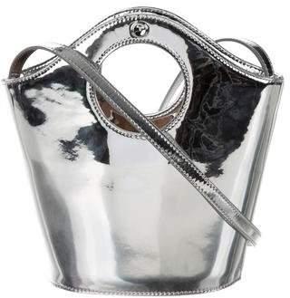 Elizabeth and James Metallic Bucket Bag