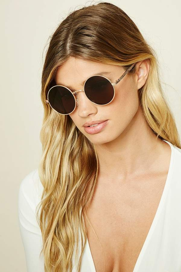 Forever 21 Geo-Etched Sunglasses