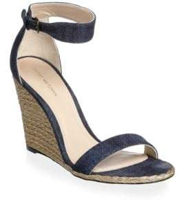 36470406d11 Stuart Weitzman Blue Wedge Heel Women s Sandals - ShopStyle