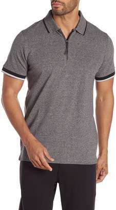Kenneth Cole New York Short Sleeve Zip Polo Shirt
