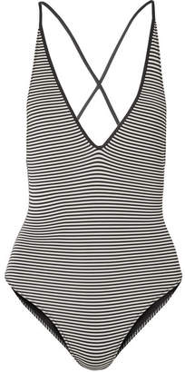 Marysia Swim Harbour Island Reversible Striped Swimsuit - Black