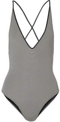 e05f6676c5 Marysia Swim Harbour Island Reversible Striped Swimsuit - Black