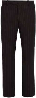 Alexander McQueen Pinstriped wool cropped trousers
