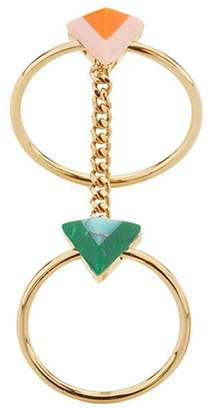 Fendi Rainbow chain double ring