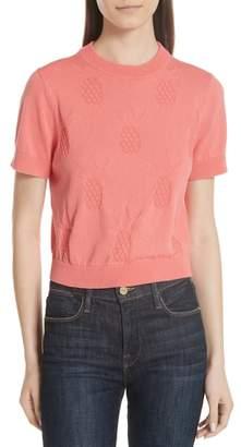 Kate Spade pineapple textured sweater
