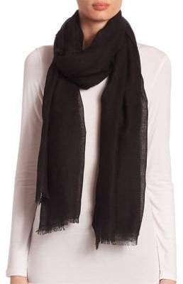 Saks Fifth Avenue Fringed Cashmere& Silk Scarf