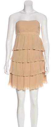 Anna Sui Pleated Strapless Dress