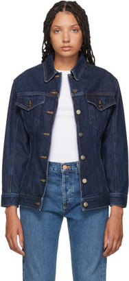 Gold Sign Indigo Denim The Waisted Jacket
