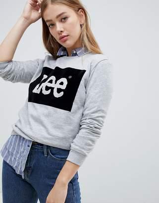 Lee Jeans Velour Logo Sweatshirt