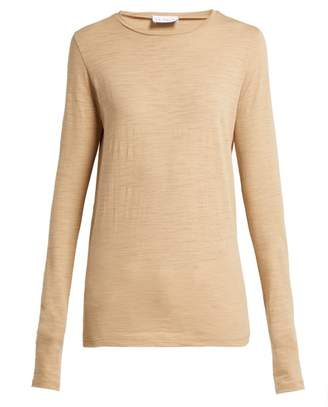 Raey Long Sleeved Slubby Cotton Jersey T Shirt - Womens - Camel