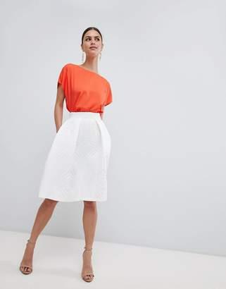 Closet London Textured Midi Skirt