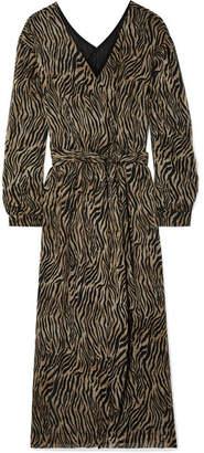 Oasis Nanushka Printed Crepon Midi Dress - Brown