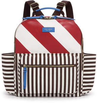 Henri Bendel Striped Canvas Large Backpack