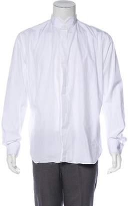 Saint Laurent Wing Collar Button-Up Shirt