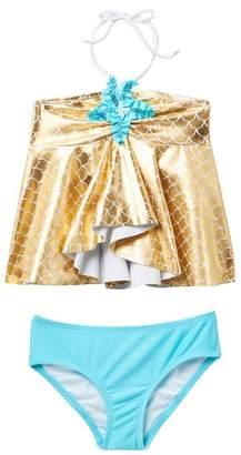 Love U Lots Starfish Hi-Lo Tankini Set (Toddler & Little Girls)