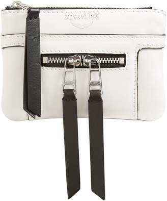 Zadig & Voltaire Zadig & Voltair Panglo Zip Snake-Embossed Leather Pouch