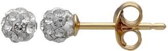 Primrose PRIMROSE 18k Gold Over Silver Crystal Ball Stud Earrings