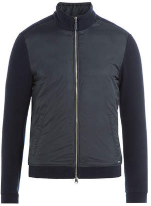 Woolrich Zipped Jacket with Wool and Cotton