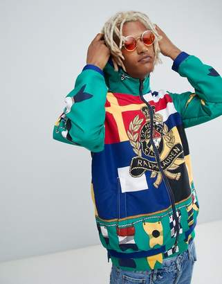 Polo Ralph Lauren Cp-93 Capsule Limited Edition Crest Flag Print Lined Hooded Jacket In Green Multi