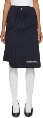 Balenciaga Navy Car Carpet Skirt