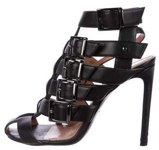 Roland Mouret Leather Caged Sandals