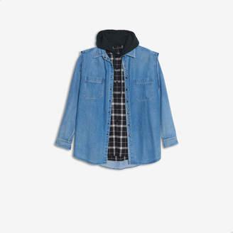 Balenciaga 2-in-one denim vest and sweater