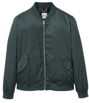 Mango man MANGO MAN Pocketed satin bomber jacket