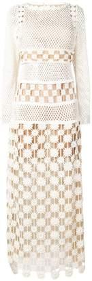 Self-Portrait crochet-lace maxi dress