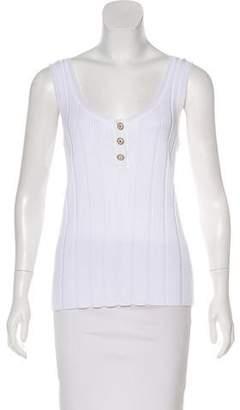 Chanel Rib Knit Sleeveless Top