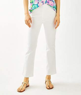 """Lilly Pulitzer 28"""" Ocean Cay High Rise Crop Flare Pant"""