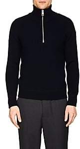 Ami Alexandre Mattiussi Men's Rib-Knit Wool Sweater - Navy