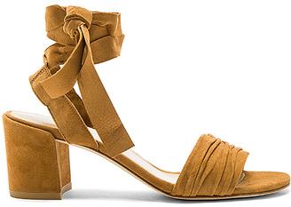 Stuart Weitzman Swifty Heel in Cognac $398 thestylecure.com