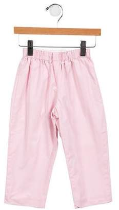 Papo d'Anjo Girls' Woven Wide-Leg Pants