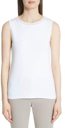 Fabiana Filippi Bead Neck Tank Top