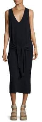 Rag & Bone Michelle Tie-Front Cotton Sweater Dress