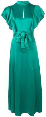 Twin-Set keyhole tie metallic dress