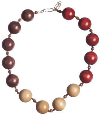 Saint Laurent Safari Wooden Bead Necklace