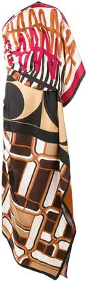 Cavallini Erika printed evening dress